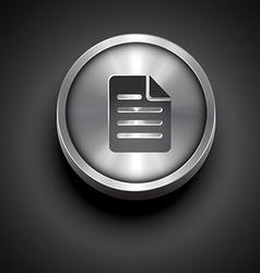 Metallic paper note icon vector