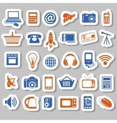 Modern technology stickers vector