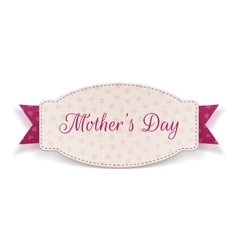 Mothers Day Holiday Banner and pink Ribbon vector
