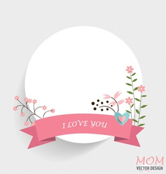 Notepaper with Floral bouquets and ribbon vector