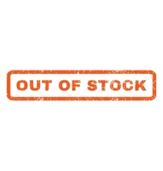 Out Of Stock Rubber Stamp vector