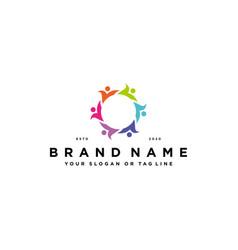 People team colorful logo design vector