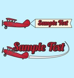 Plane flag vector image