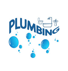 plumbing abstract symbol vector image
