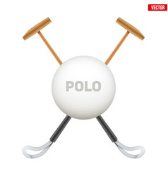 Polo game mallet vector