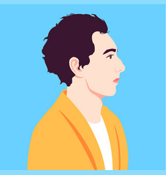 portrait a man in profile avatar for social vector image