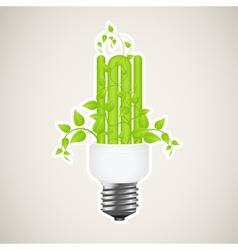 power saving green 2 vector image