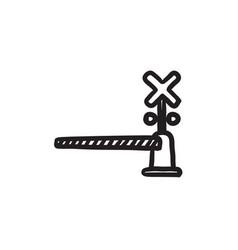 railway barrier sketch icon vector image