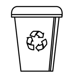 Recycle bin isolated icon vector