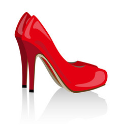 Red realistic women shoes vector