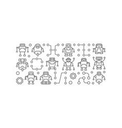 Robots horizontal banner vector