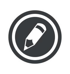 Round black pencil sign vector