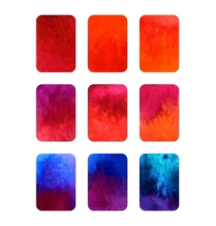 set of gradient watercolor elements for vector image