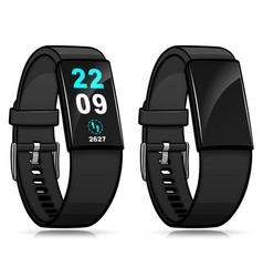 Smart bracelet isolated watch vector