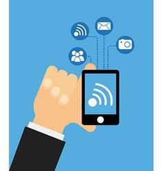 smartphone device vector image