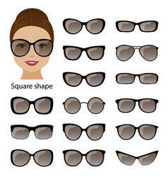 Spectacle frames and square face vector