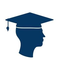 Student graduation uniform icon vector