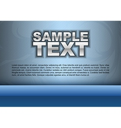 template blue stripe text vector image