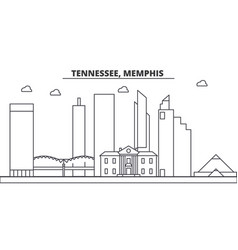 Tennessee memphis architecture line skyline vector