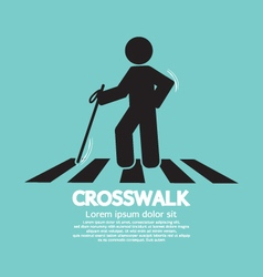 The Blind On The Crosswalk Symbol vector