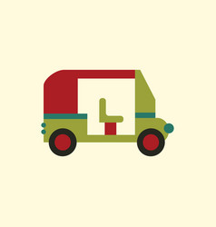 Transportation golf cart flat icon vector