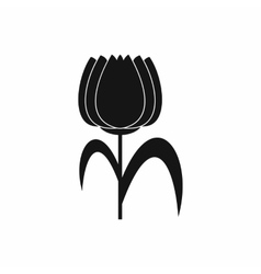 Tulip icon in simple style vector image