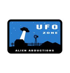 ufo zone badges and logo emblem vector image