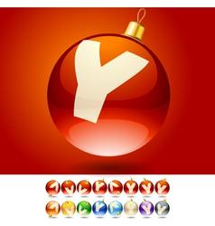 Ultimate set of alphabet font symbols on Christmas vector