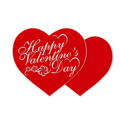 valentine s day valentines on holiday two red vector image