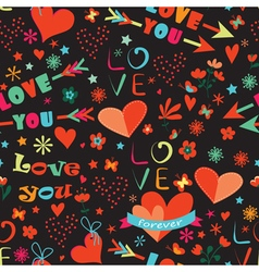 Valentines Day floral seamless pattern vector image vector image