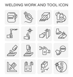 welding work icon vector image