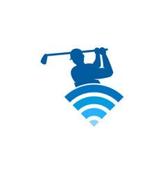 Wifi golf logo icon design vector