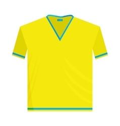 Yellow sports shirt icon cartoon style vector image