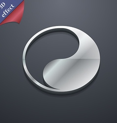 Yin Yang icon symbol 3D style Trendy modern design vector