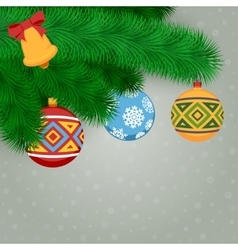 Fir Branches And Balls vector image