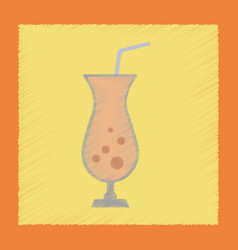 flat shading style icon glass of cocktail vector image vector image