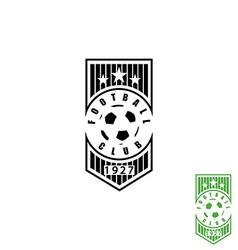 Football club emblem mockup soccer sport logo ball vector image