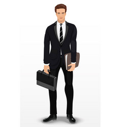 man in stylish suit businessman vector image vector image