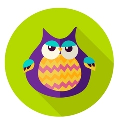 Cute Owl Circle Icon vector image vector image