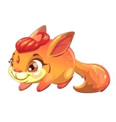 Funny cartoon fantasy squirrel pet vector image vector image