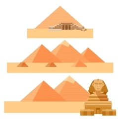 Set of piramides vector image