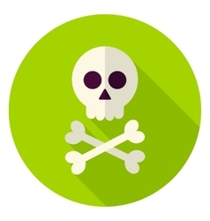 Dead Man Skull Circle Icon vector image