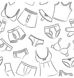 Female And Male Underwear Doodle Pattern vector image