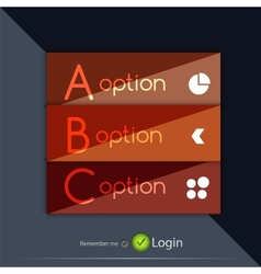 Glossy ribbon option buttons banners design vector image