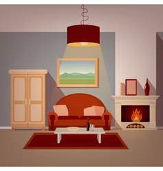Modern Home Interior of Living Room vector image vector image