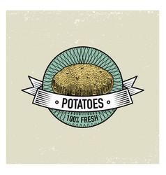 potato vintage set of labels emblems or logo for vector image vector image