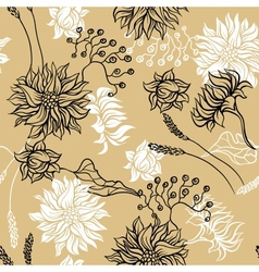 Seamless pattern with flowers background for you vector image vector image