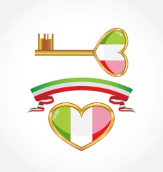 set of symbols of Italy vector image