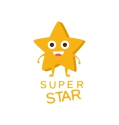 Super Star Word And Corresponding vector image vector image