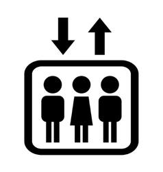 black icon lift vector image vector image